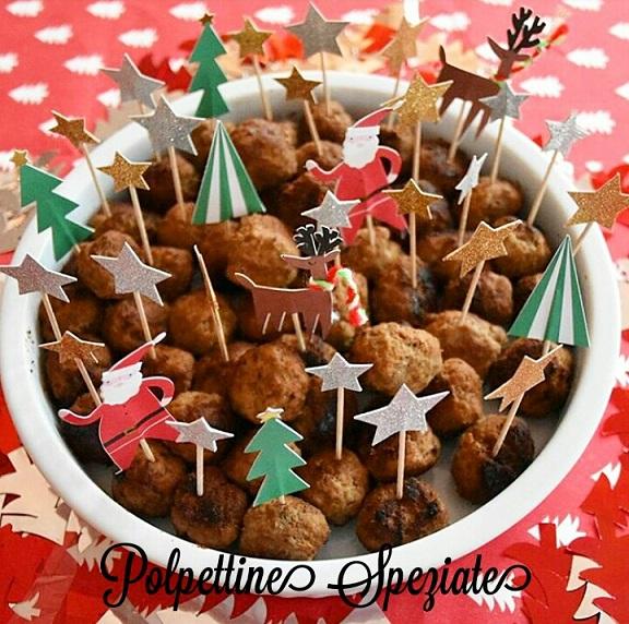 Polpettine di carne speziate - ricetta antipasto di Natale