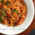 Spaghetti alle seppie e pomodoro