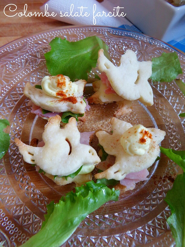 Colombe salate farcite - ricetta antipasto pasquale