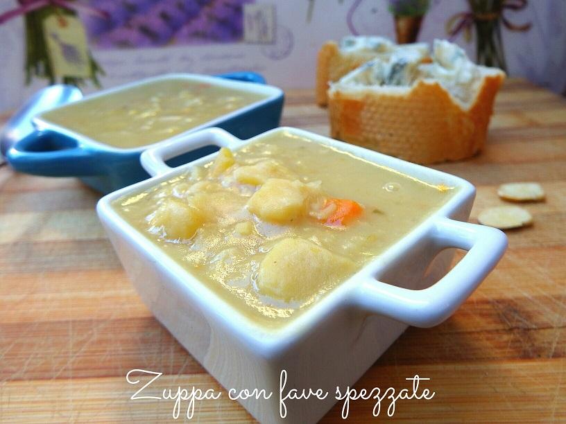 Zuppa di fave spezzate - primo piatto leggero