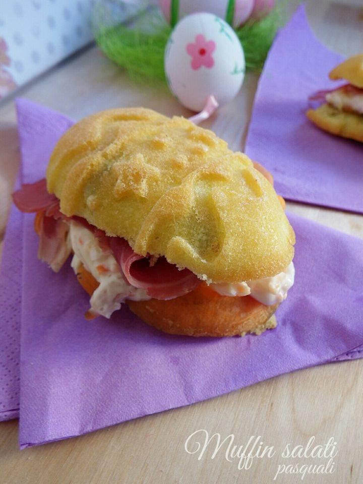 Muffin pasquali con prosciutto crudo e insalata russa