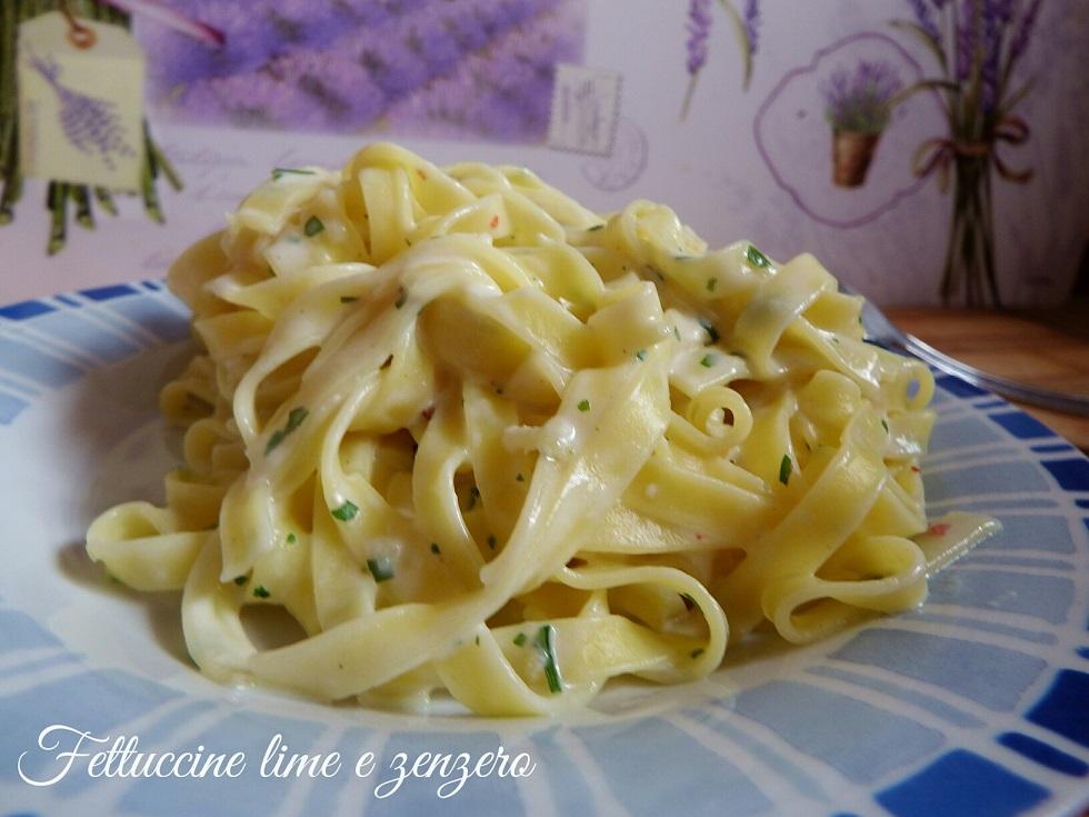 Fettuccine cremose lime e zenzero