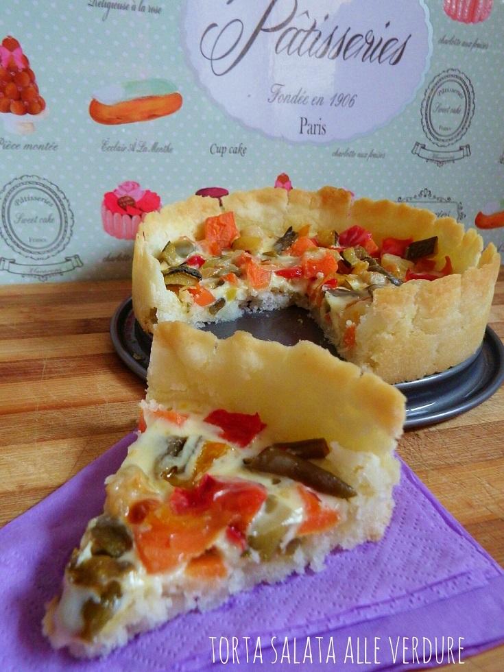 Torta salata alle verdure dell'orto