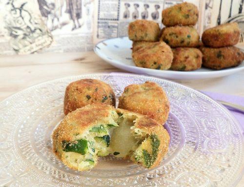 Crocchette di zucchine con cuore filante di mozzarella