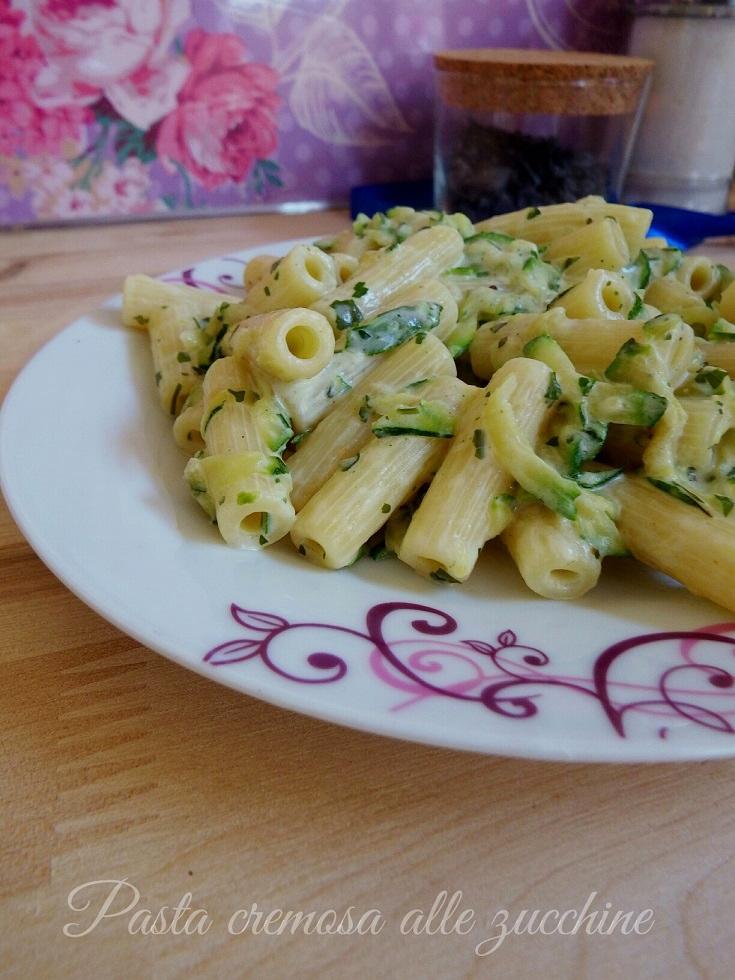 Pasta cremosa con le zucchine