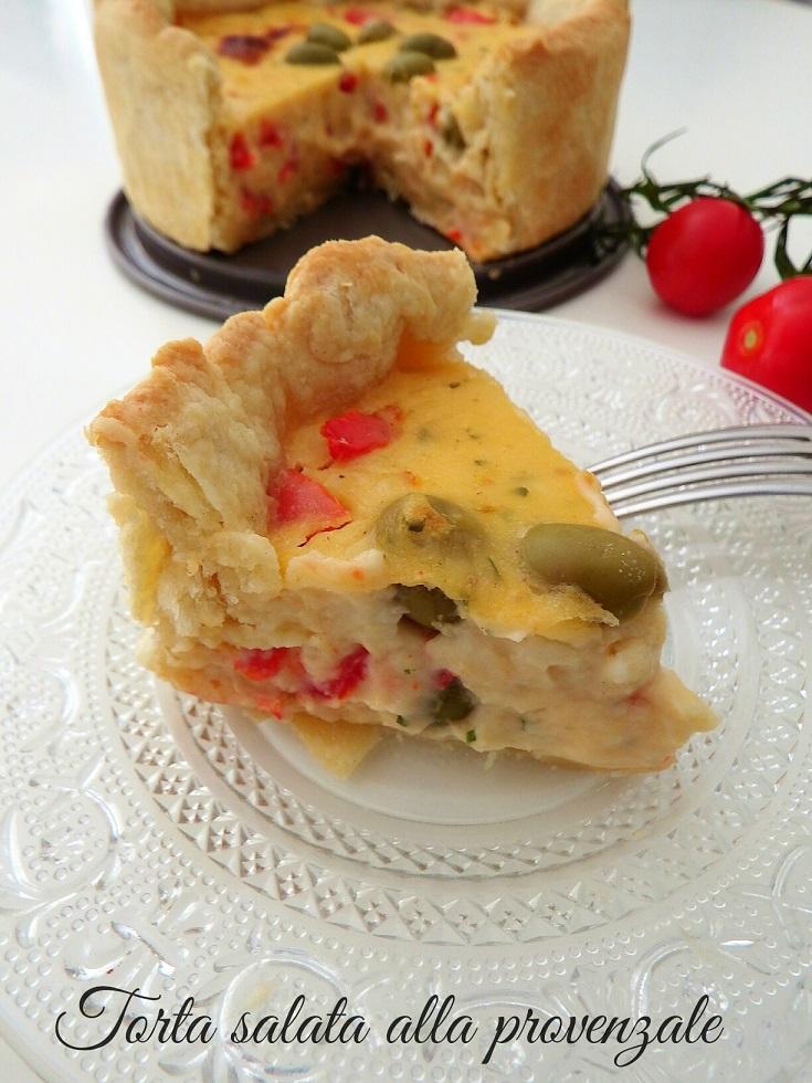 Torta salata cremosa alla provenzale