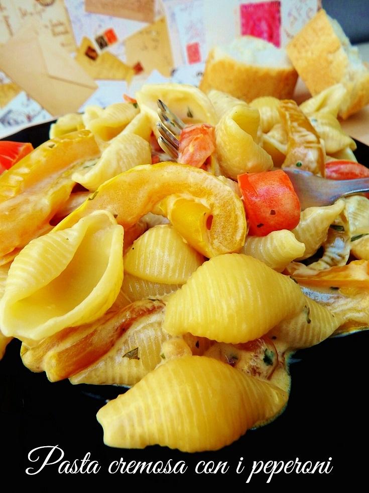 Pasta cremosa con i peperoni