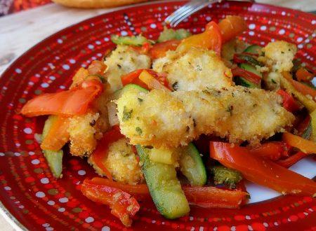 Pollo croccante con verdure alla greca