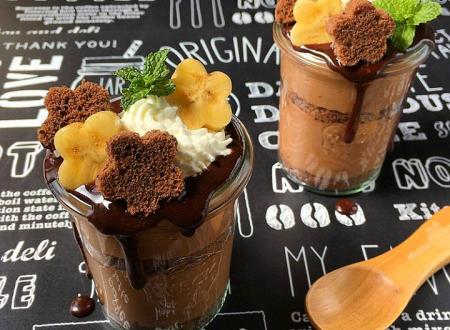 Coppa Barbados con cioccolato e banane