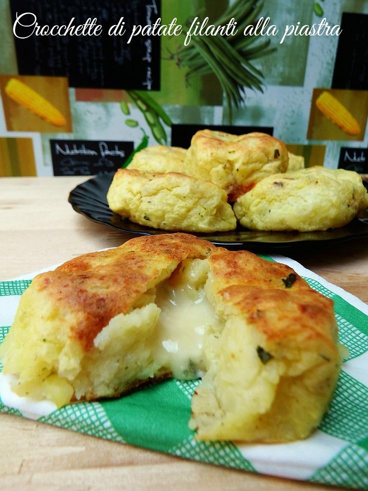 Crocchette di patate filanti cotte alla piastra