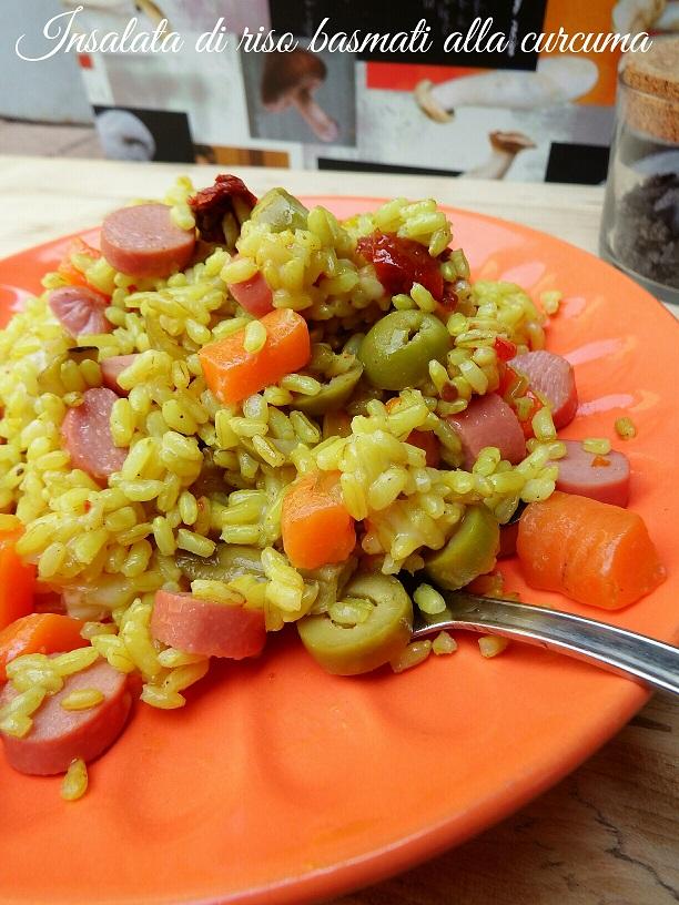 Insalata di riso basmati alla curcuma
