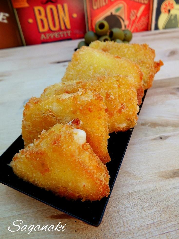 Saganaki- formaggio fritto greco