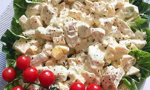 Insalata di pollo con salsa cacik