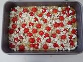 Focaccia senza lievitazione con pomodorini e feta