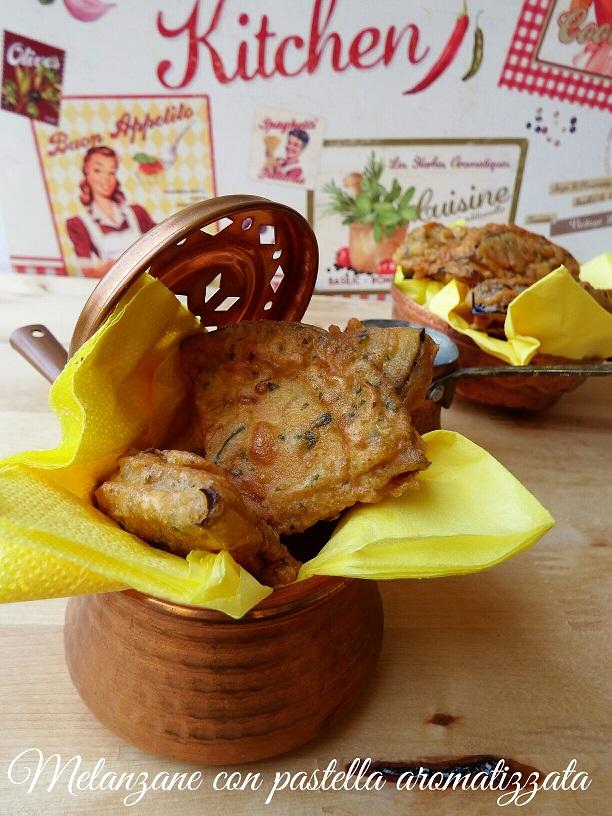 Melanzane in pastella aromatizzata