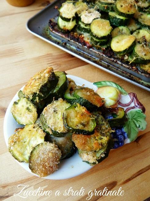 Zucchine a strati gratinate