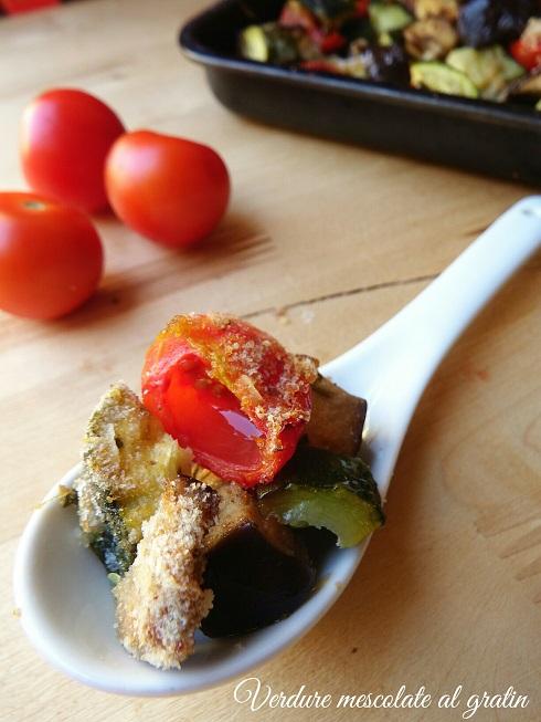 Verdure mescolate gratinate