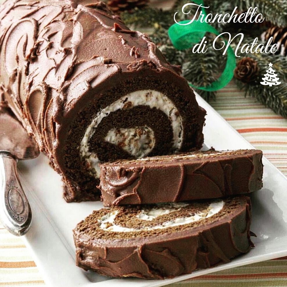 Tronchetto Di Natale Per 6 Persone.Tronchetto Di Natale Al Cioccolato E Panna