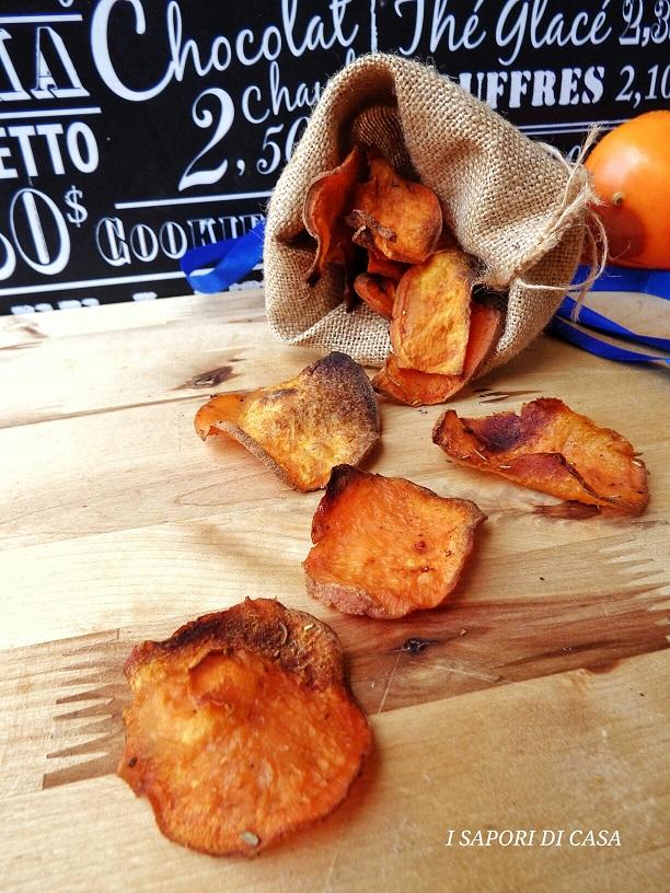 CHIPS DI BATATA ROSSA cotte al forno croccantissime