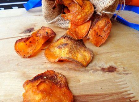 CHIPS DI BATATE ROSSE cotte al forno croccantissime
