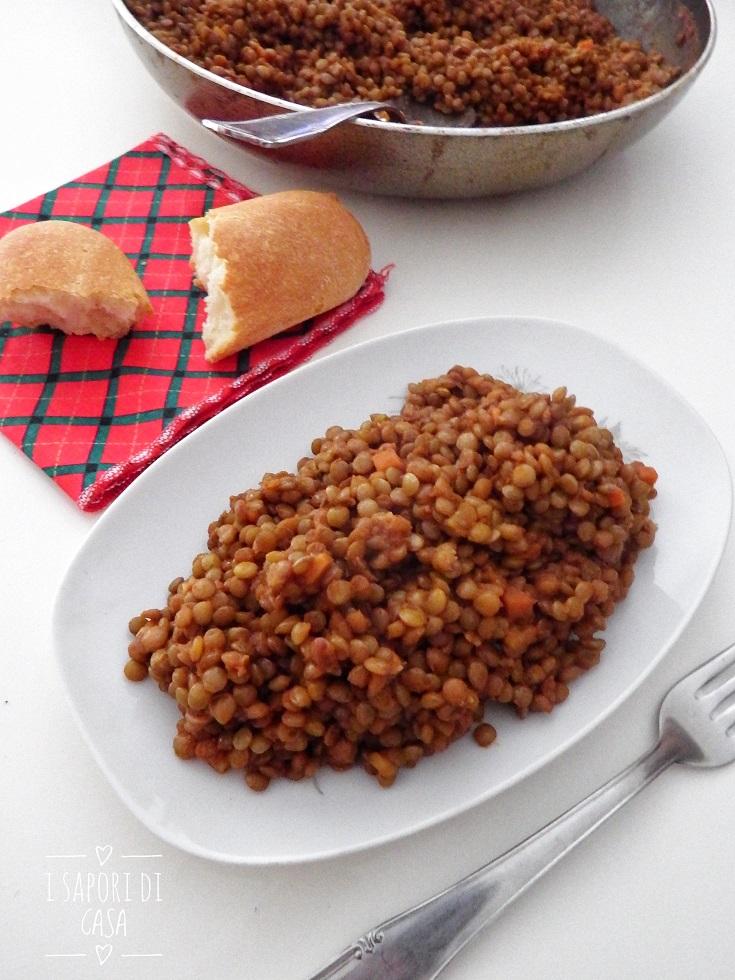 RAGU DI LENTICCHIE - ricetta vegetariana