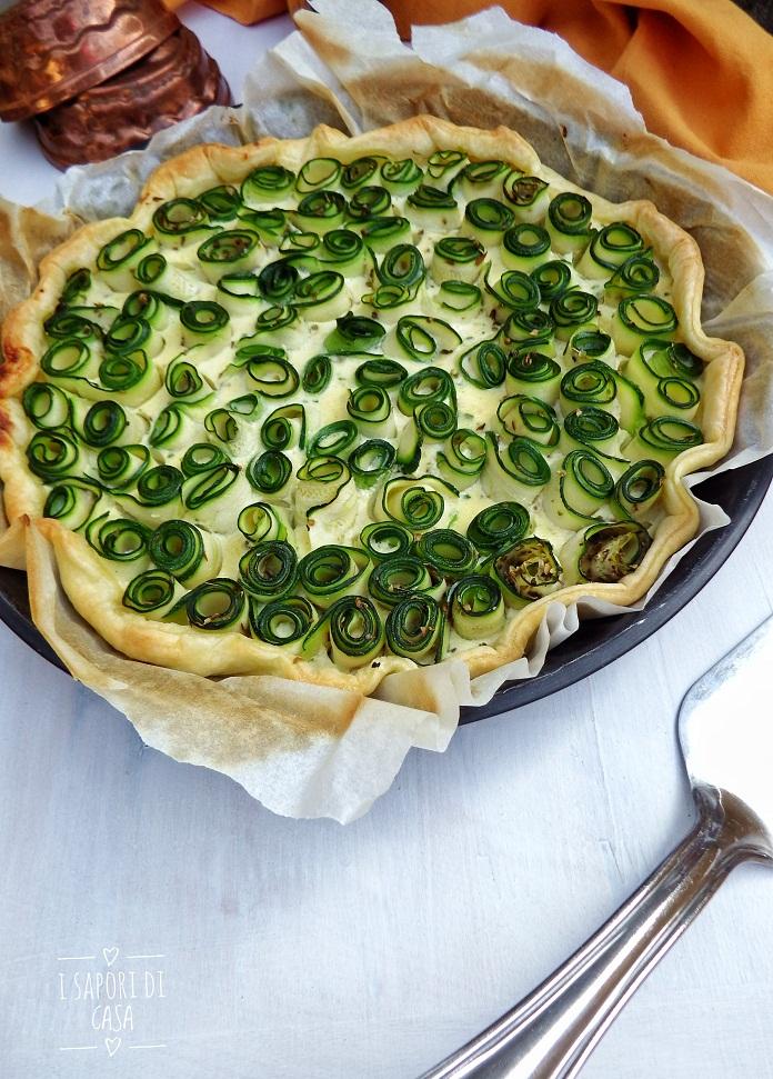 Torta salata con zucchine e robiola