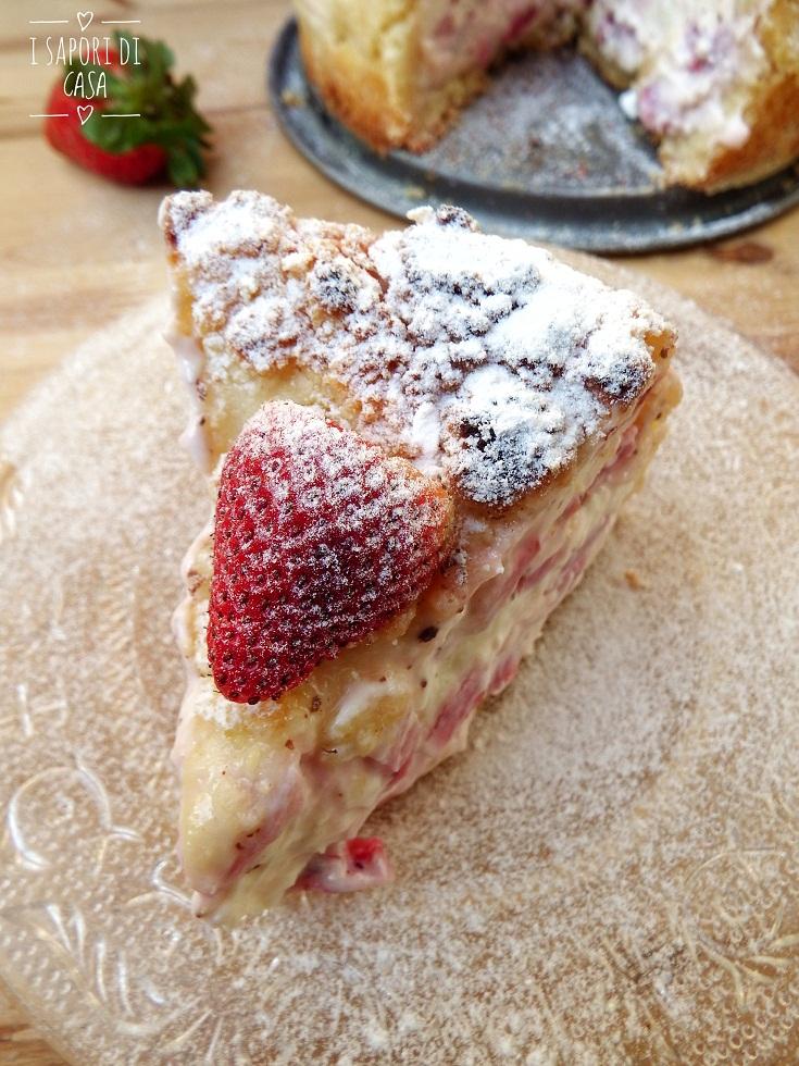 Cheesecake Sbriciolata alle Fragole
