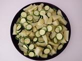 Contorno con patate e zucchine croccanti