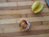 Patate novelle con mousse di prosciutto cotto