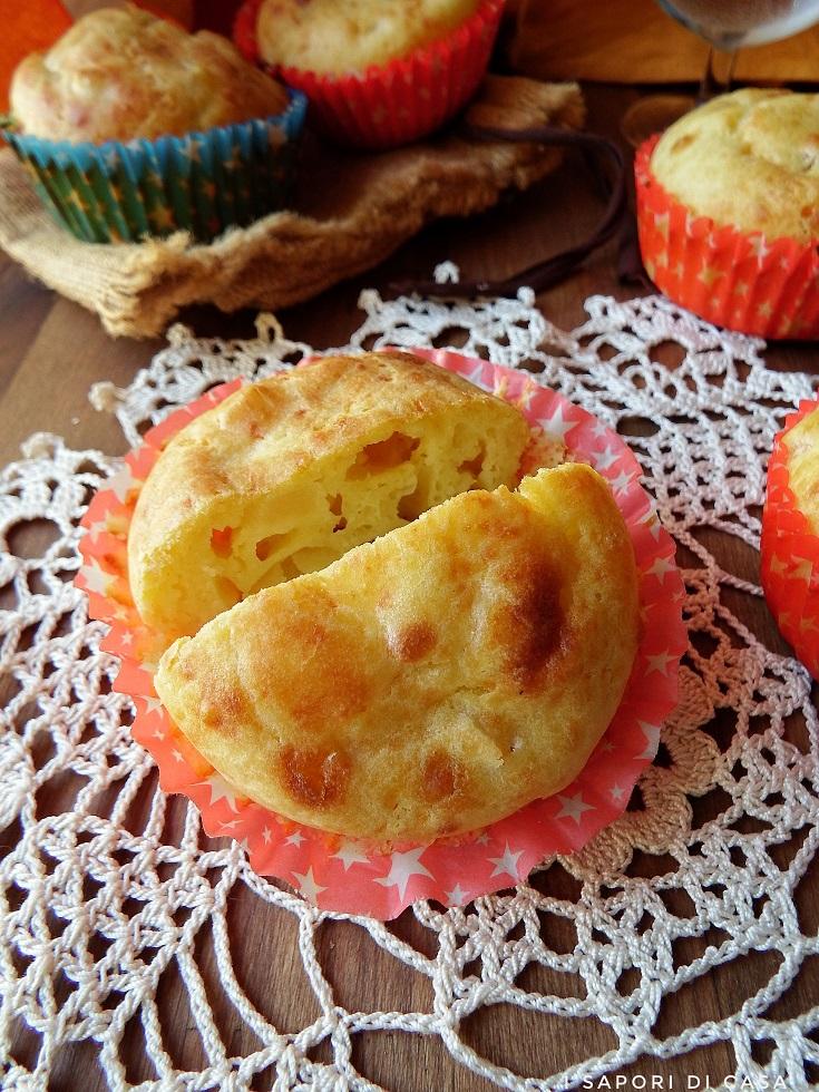 Muffin salati pere e formaggio