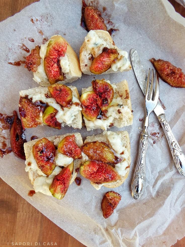 Baguette con gorgonzola e fichi