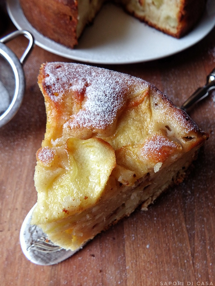 Torta alle mele e cannella senza burro e olio