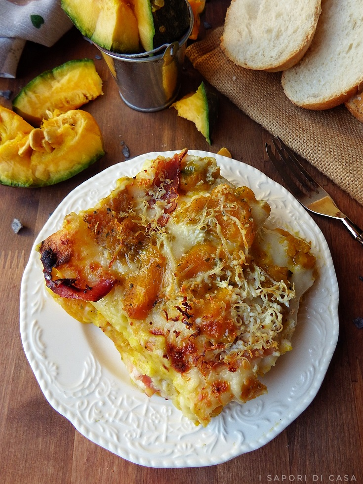 Lasagne con zucca e speck