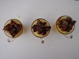 Bicchierini con polenta e funghi