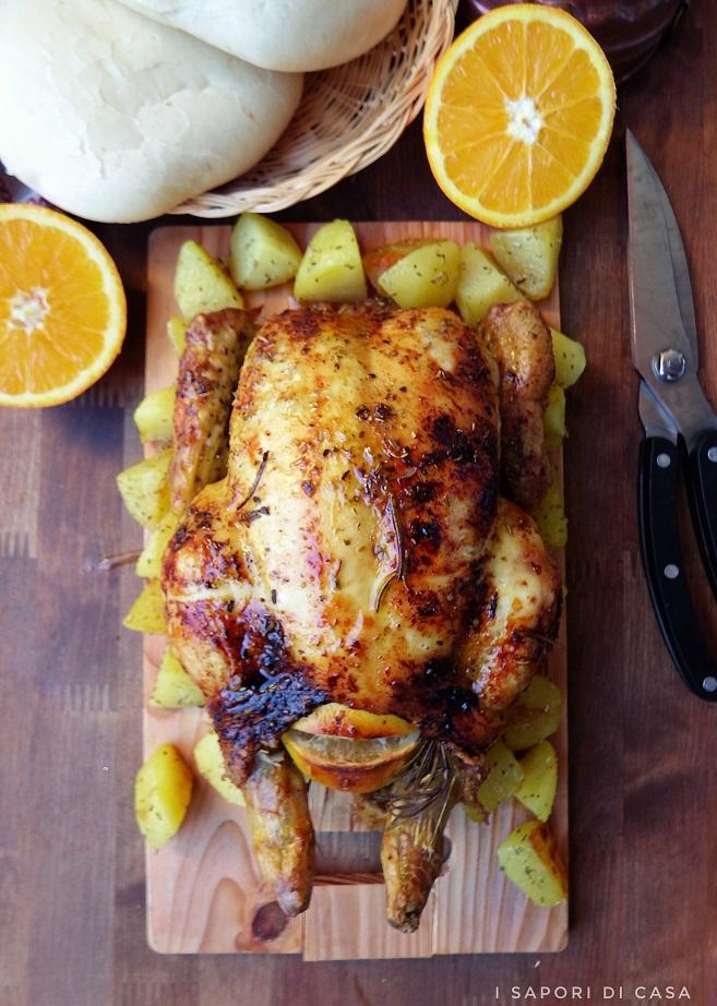 Pollo glassato all'arancia