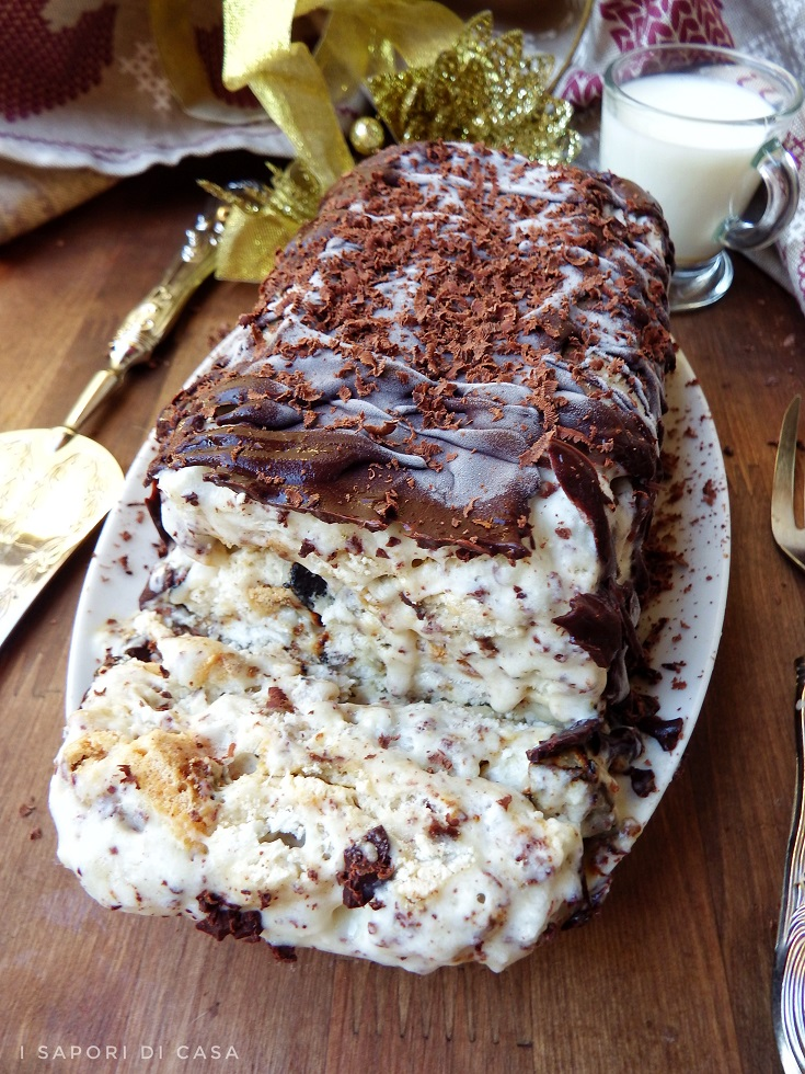 Semifreddo meringato al cioccolato