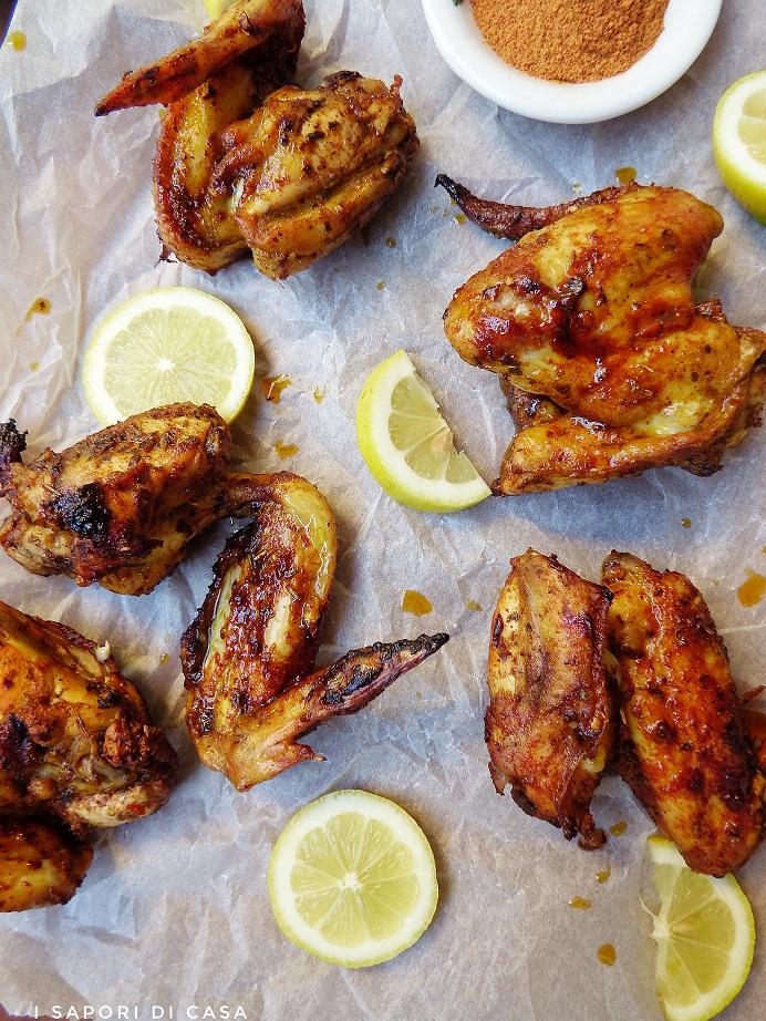 Alette di pollo al limone e curry