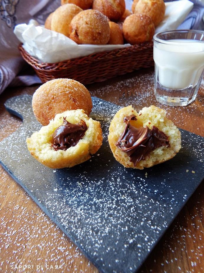 Castagnole con la Nutella