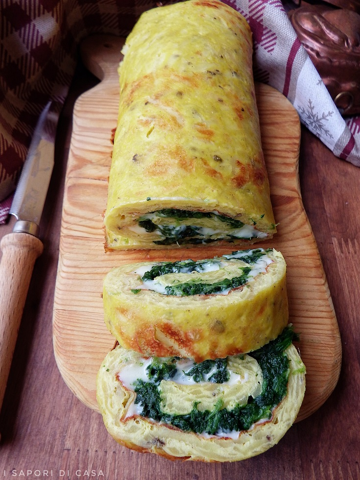 Rotolo di patate e spinaci