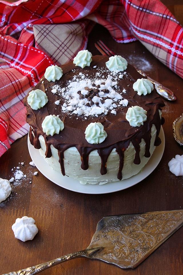 Torta menta e cioccolato