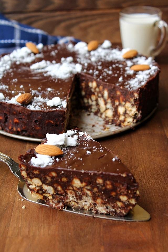 Torta biscotto senza cottura