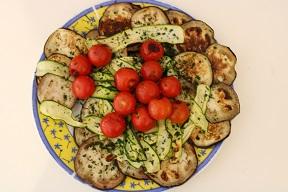 Plumcake salato con verdure grigliate