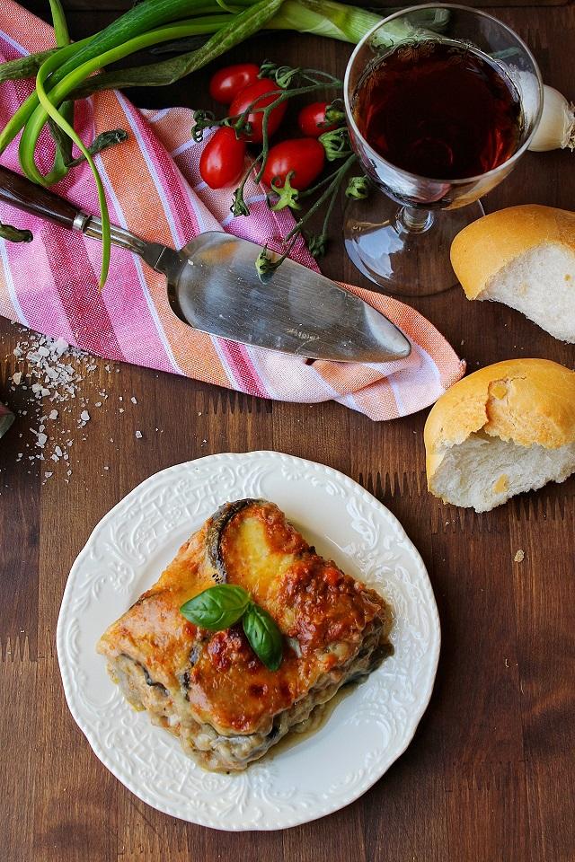 Moussaka con melanzane grigliate