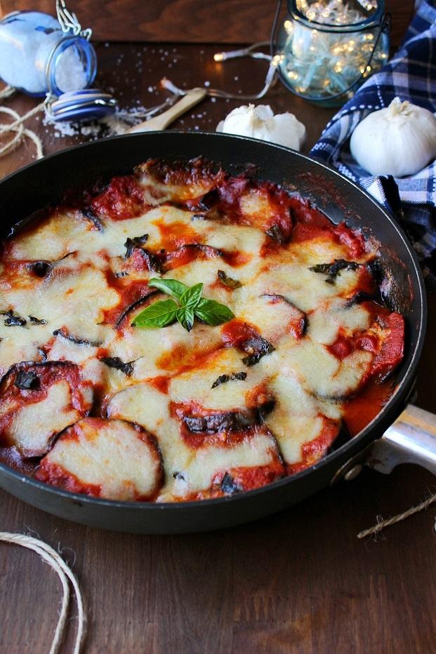 Parmigiana di melanzane cotta in padella