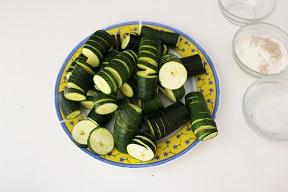 Zucchine a molla pastellate