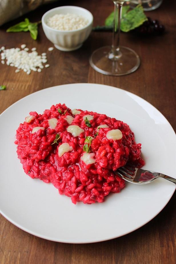 Risotto con rapa rossa e gorgonzola