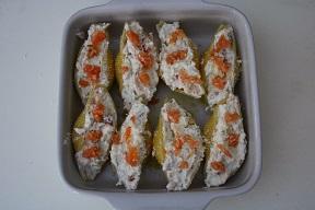 Conchiglioni con salmone e ricotta