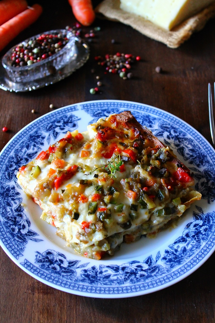 lasagne con ragù di verdure