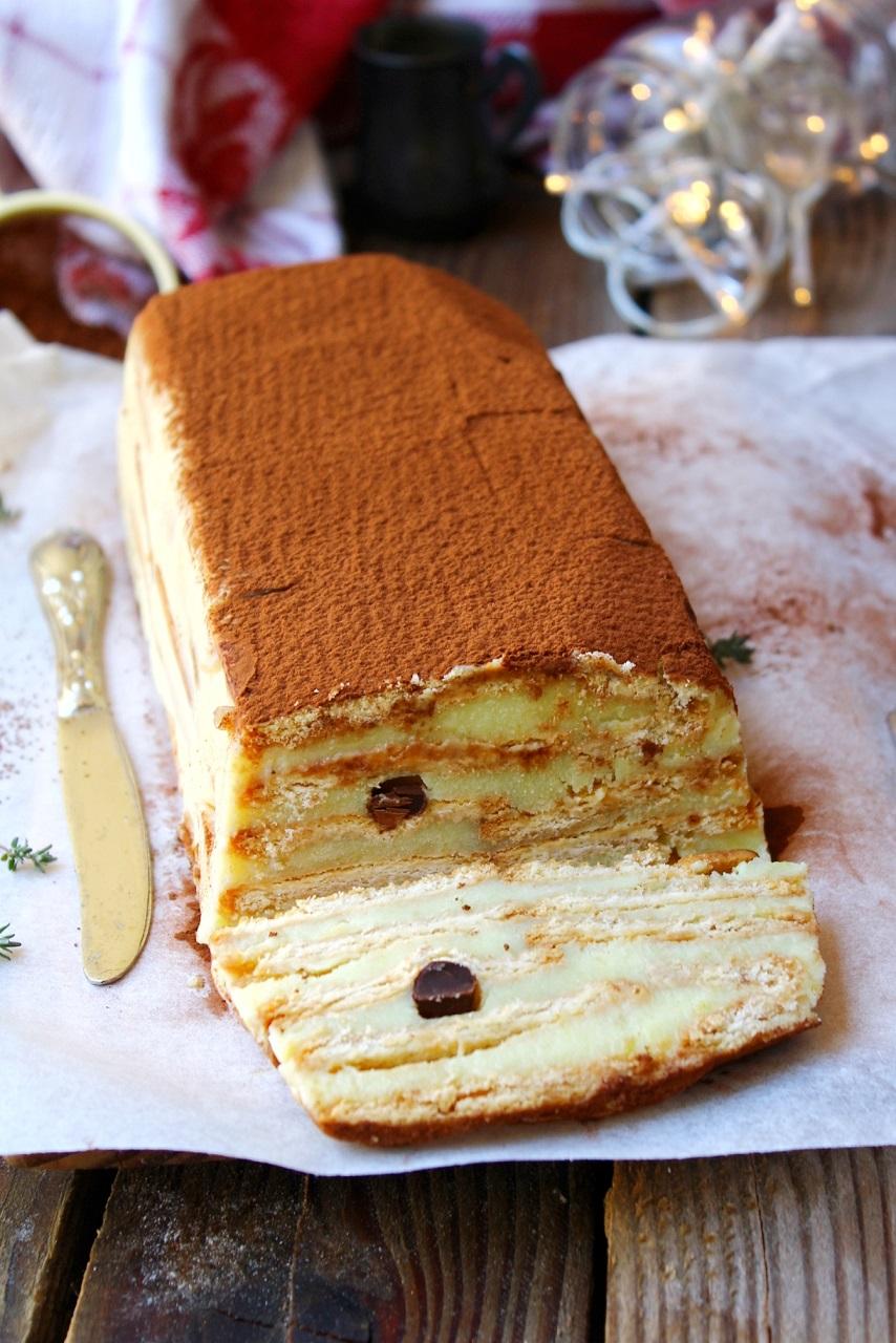 Mattonella con biscotti e crema