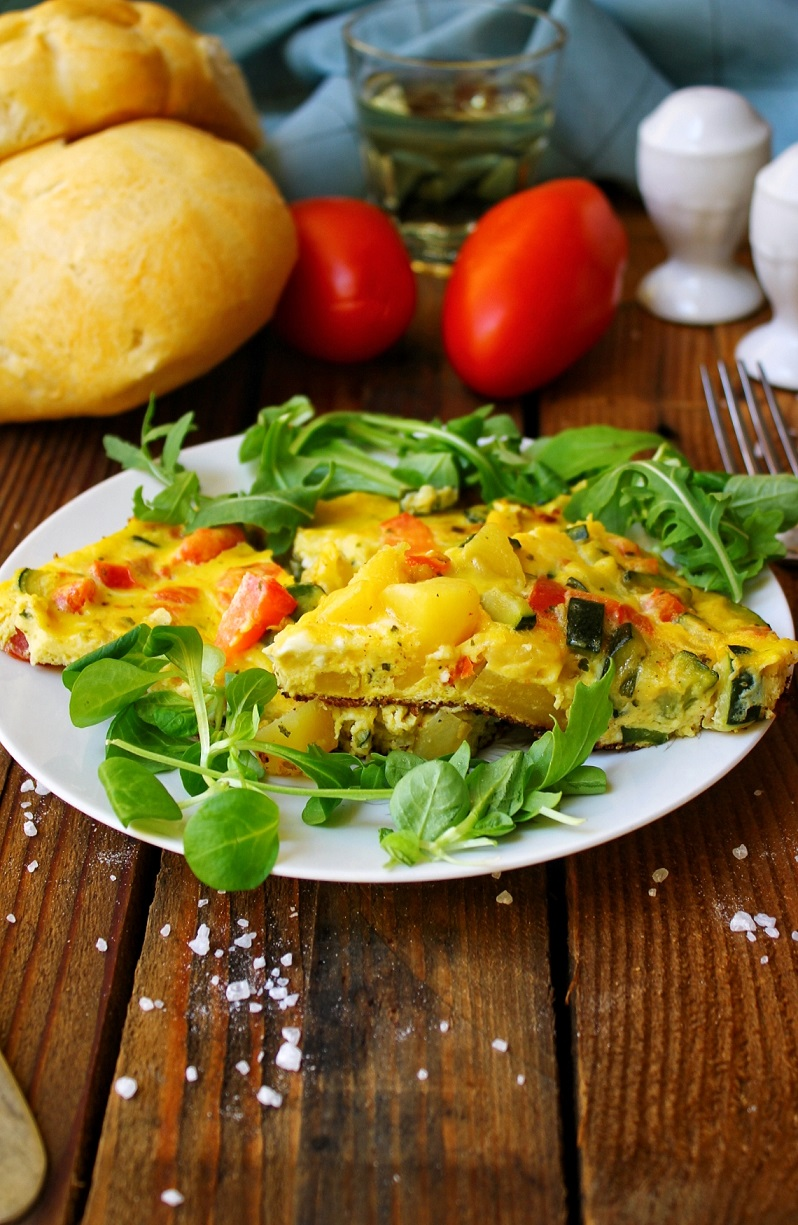 Frittata in padella con verdure